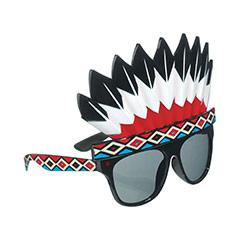 Gafas con forma de penacho Jefe Indio