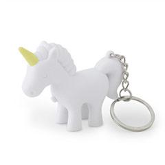 Llavero unicornio blanco - Ítem