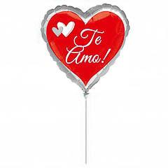 Globo Corazón Te Amo con palo