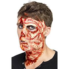 Cicatriz de cara quemada látex, con adhesivo