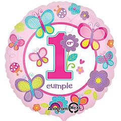 Globo metálico primer cumpleaños niña