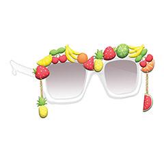 Gafas con frutas