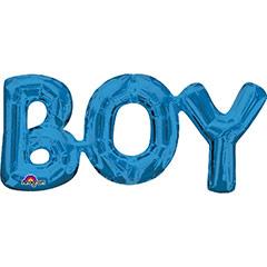 Globo texto Boy azul 50 X 22 cm