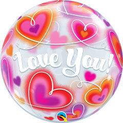 Globo Burbuja Love You