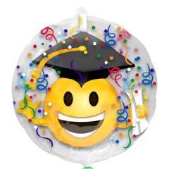Globo transparente decorado graduación