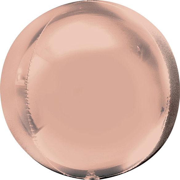 Globo Esfera Rosa Oro Satín