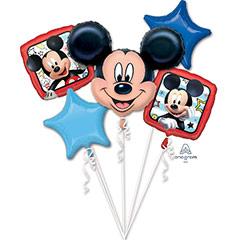 Ramo de 5 globos metálicos Mickey Mouse