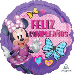 Globo Minnie Mouse Feliz Cumpleaños