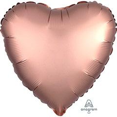 Globo Corazón Rosa Oro Satín