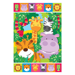 Bolsas piñata animales jungla, Pack 8 u.