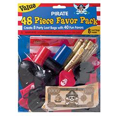 Bolsas con regalitos piratas para piñata, Pack 48 u.