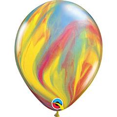 Globos multicolor marmolados, Pack 6 u.