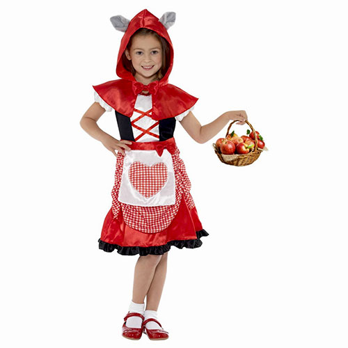 Disfraz Caperucita Roja Infantil Con Orejas