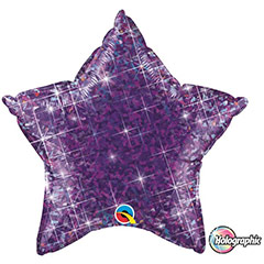 Globo Estrella holográfica morado
