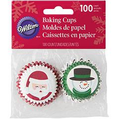 Cápsulas mini cupcakes Santa y Hombre de Nieve Wilton, Pack 100 u.