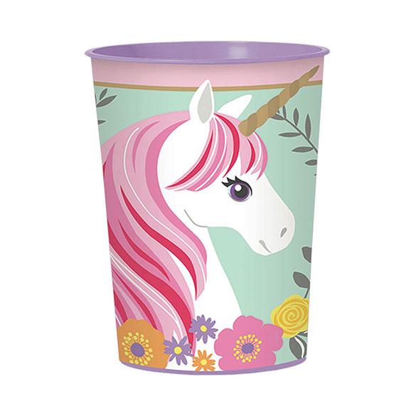 Vaso Unicornio plástico duro 273 ml.1 u.