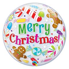 Globo Burbuja Merry Christmas