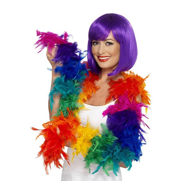 Boa de plumas arco iris 80 gr