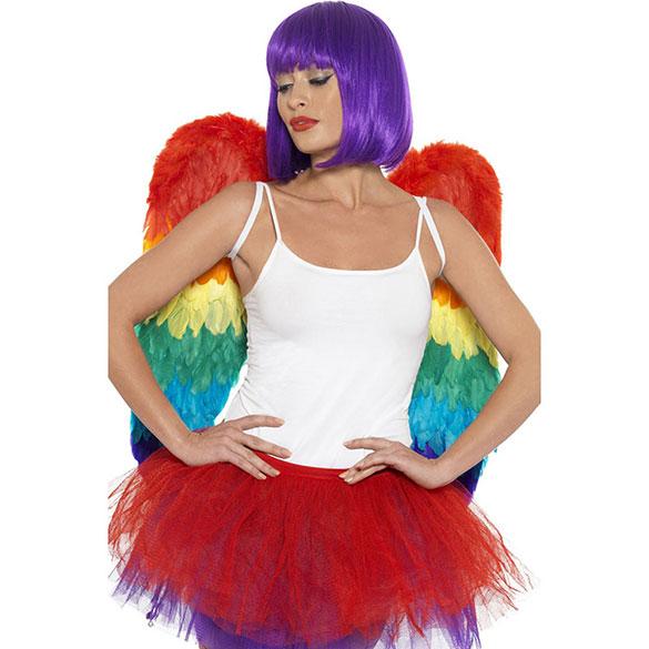 Alas ángel plumas arco iris