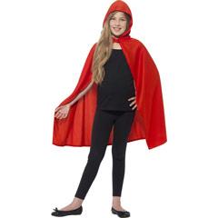 Capa roja con capucha infantil