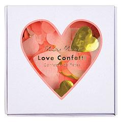 Confeti de papel corazones