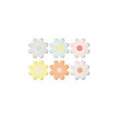 Mini plato forma flor Daisy,12 cm, Pack 12 u.