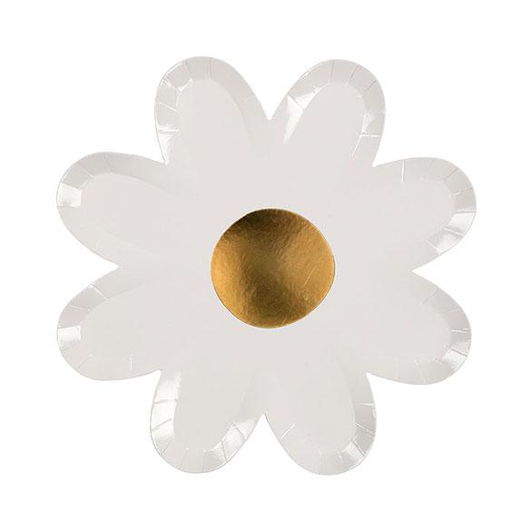 Platos flor Daisy 22,50 cm, Pack 8 u.