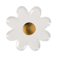Platos flor Daisy 22,50 cm, Pack 8 u. - Ítem