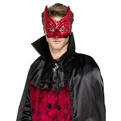 Antifaz diablo rojo