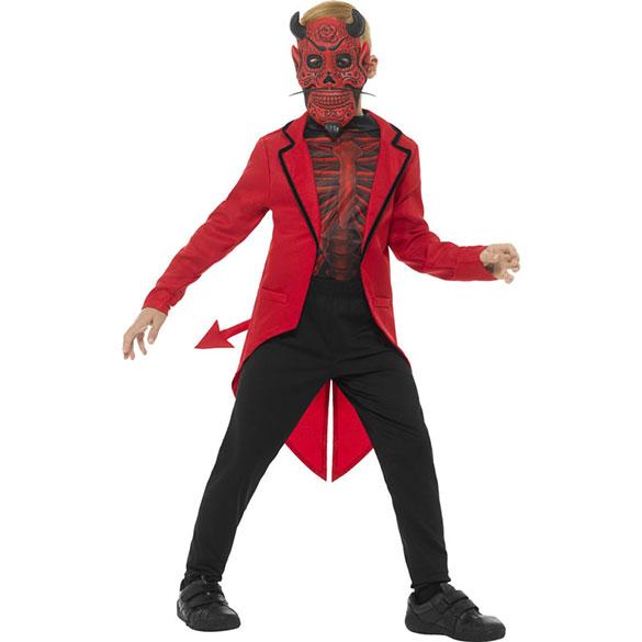 Disfraz diablo de lujo infantil