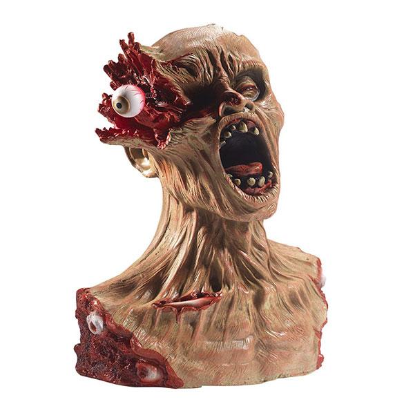 Busto Zombi de látex con ojo explotado