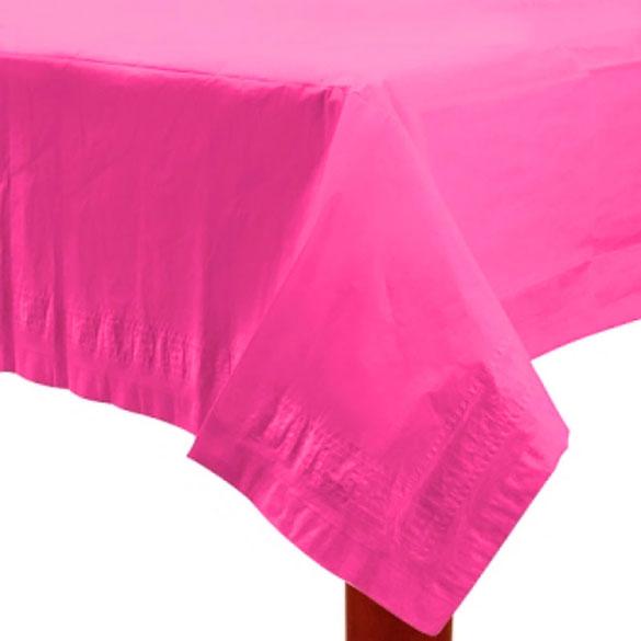 Mantel liso magenta 274 x 137 cm impermeable, Pack 1 u.