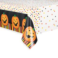Mantel calabaza sonriente Halloween 213 x 137 cm plástico