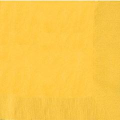 Servilletas lisas amarillas 25 x 25 cm, Pack 20 u.