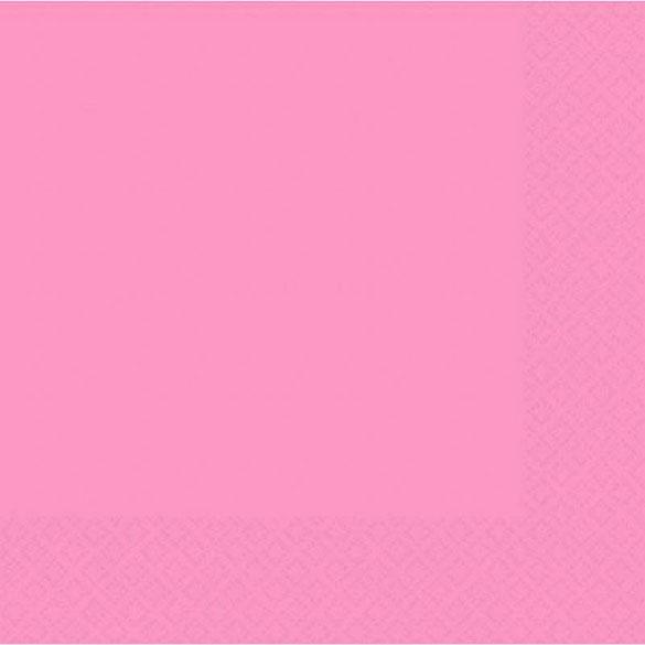 Servilletas lisas rosa 25 x 25 cm, Pack 20 u.