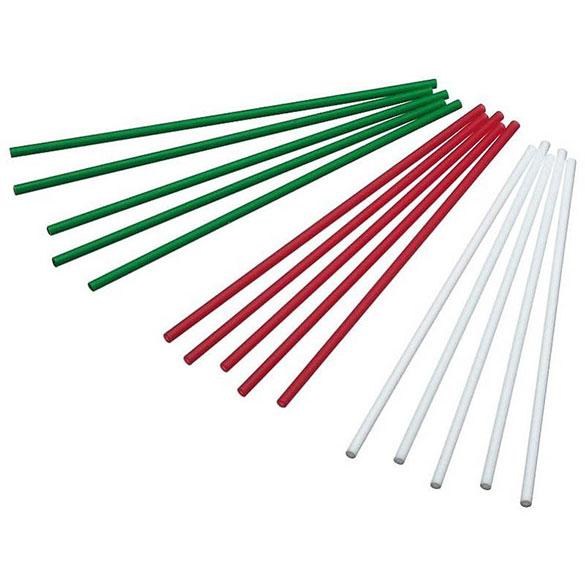 Palillos Lollypop 3 colores 10,00 cm, Pack 60 u.