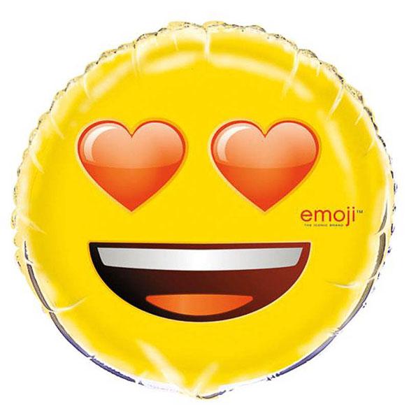 Globo emoticono enamorado