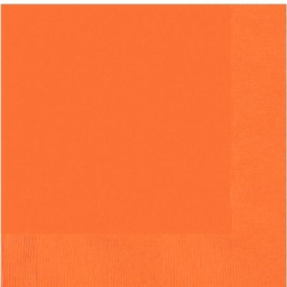 Servilletas lisas naranja 33 x 33 cm, Pack 20 u.