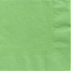 Servilletas lisas verde pistacho 33 x 33 cm, Pack 20 u.