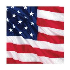 Servilletas Bandera USA 33 x 33 cm, Pack 16 u.