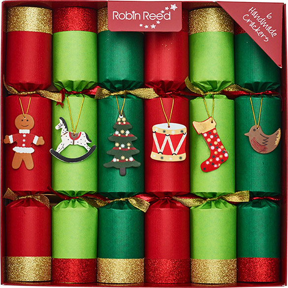 Holly Ribbons. Christmas Crackers. 25 cm, Pack 12 u.