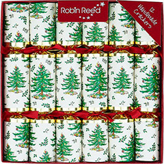 Yule Tree. Christmas Crackers. 25 cm, Pack 12 u. - Ítem