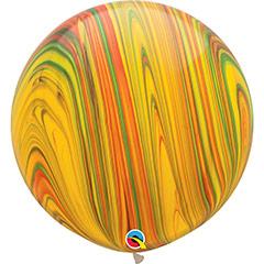 Globo de látex Marmolado grande 75 cm. 1 unidad