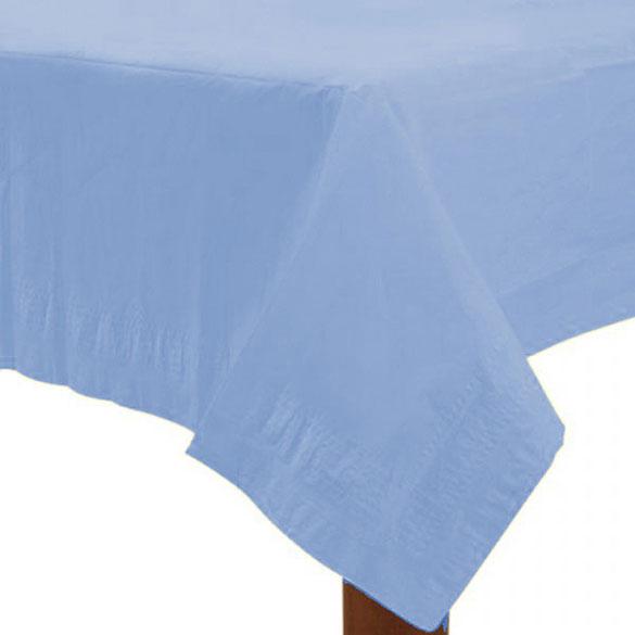 Mantel liso celeste 274 x 137 cm impermeable, Pack 1 u.