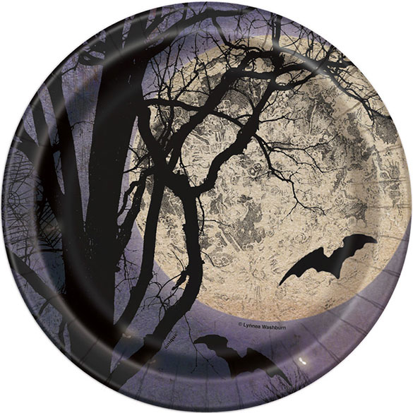 Platos Noche Fantasmagórica 17,80 cm, Pack 8 u.