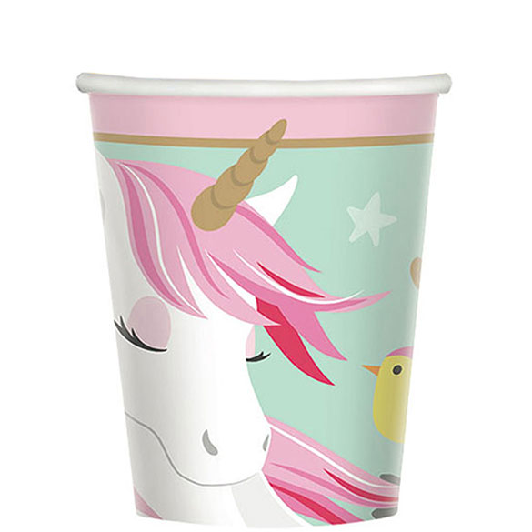 Vasos Unicornio 266 ml, Pack 8 u.