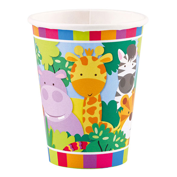Vasos Jungla 266 ml, Pack 8 u.