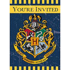 Invitaciones cumpleaños Harry Potter, Pack 8 u.