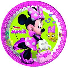 Platos Minnie Mouse 23 cm, Pack 8 u.