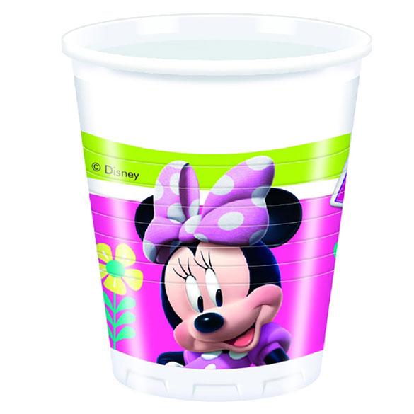 Vasos Minnie plástico 200 ml, Pack 8 u.